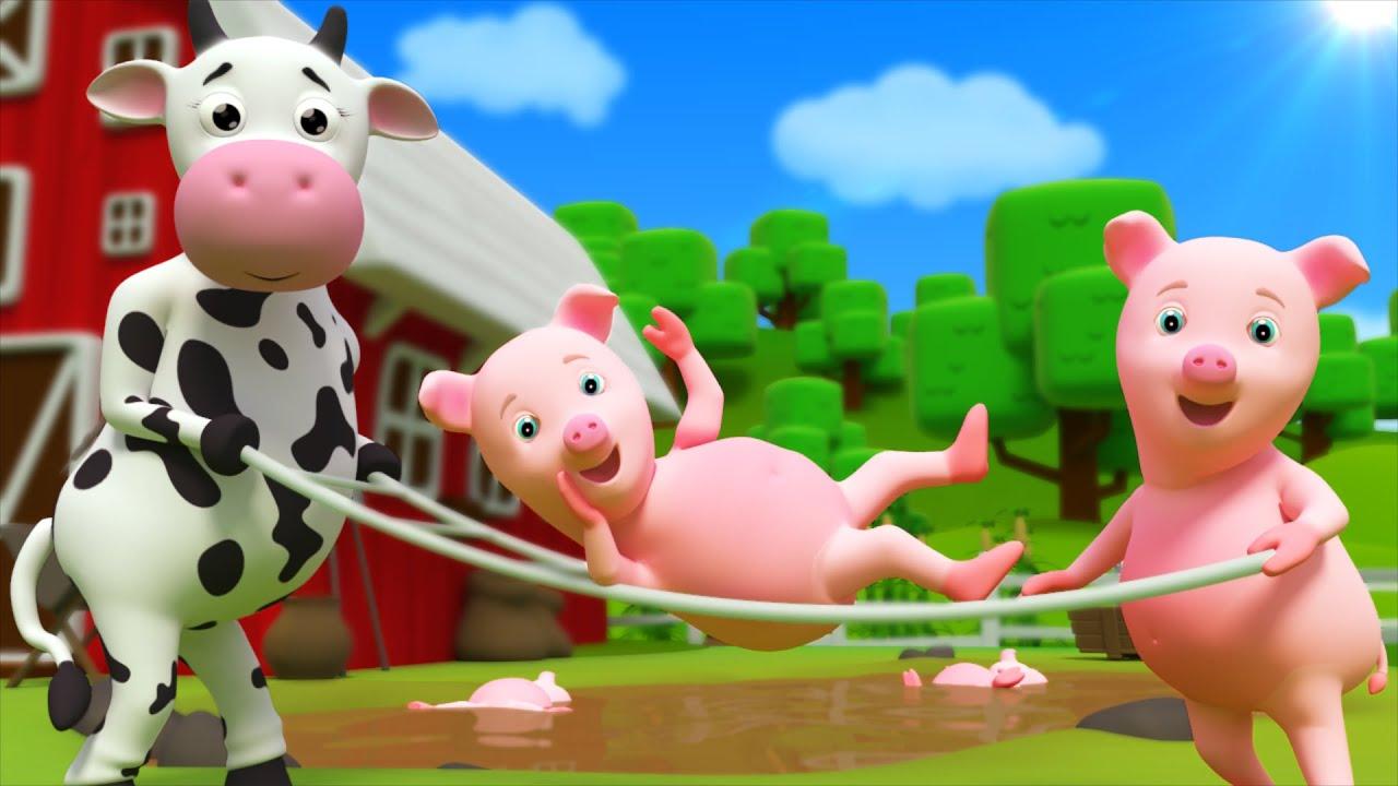 Five Little Piggies | Nursery Rhymes | Kids Songs by Farmees