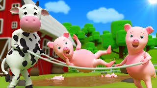 Five Little Piggies  Nursery Rhyme  Kids Songs by Farmees