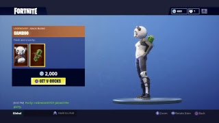 *NEW* Item Shop 18-19 P.A.N.D.A    SKIN