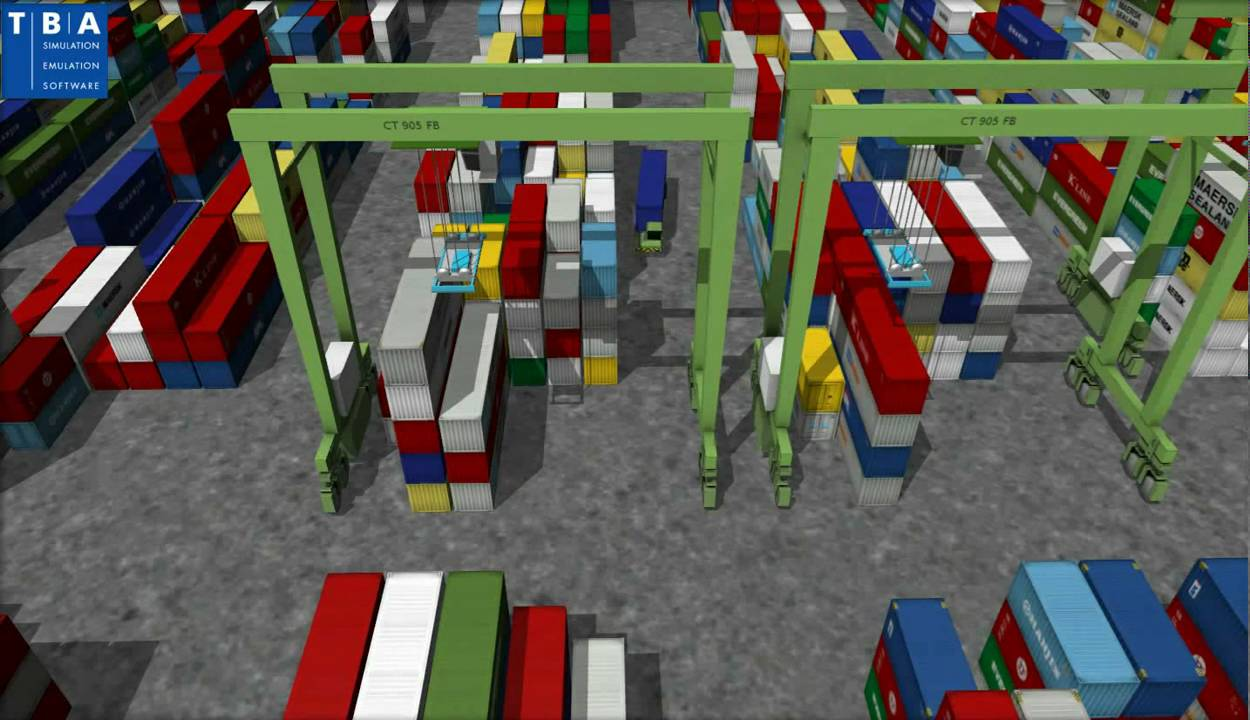 Container Terminal Simulation by TBA