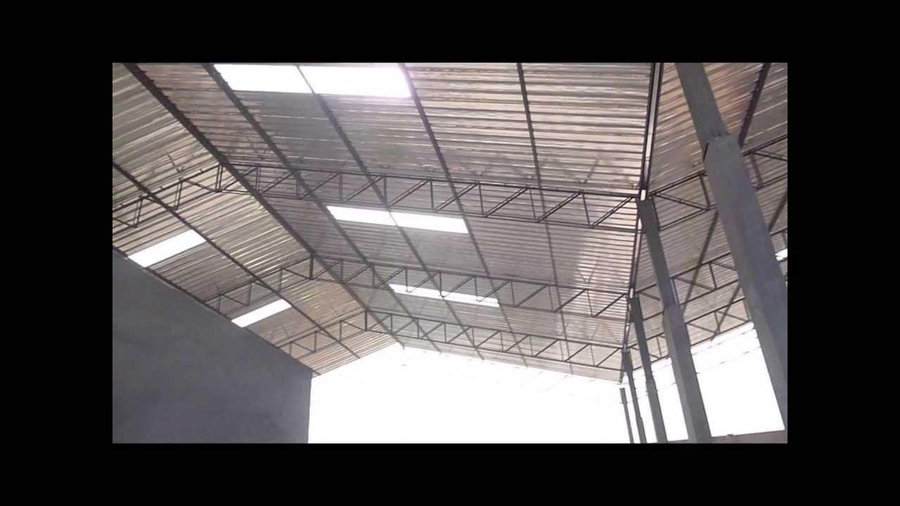 Techo tijeral dos aguas comas youtube for Como hacer una estructura metalica para techo