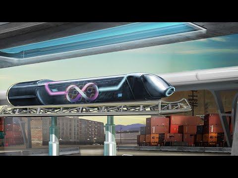 World's first full-size hyperloop test in Las Vegas; High-speed rails in USA