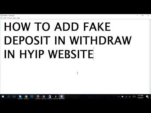 How To Add Fake Deposit and Withdraw in HYIP Website