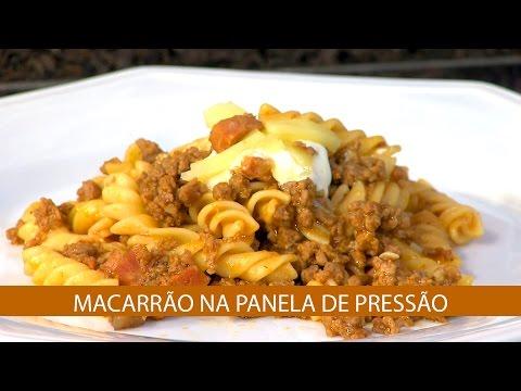 MACARRÃO NA PANELA DE PRESSÃO