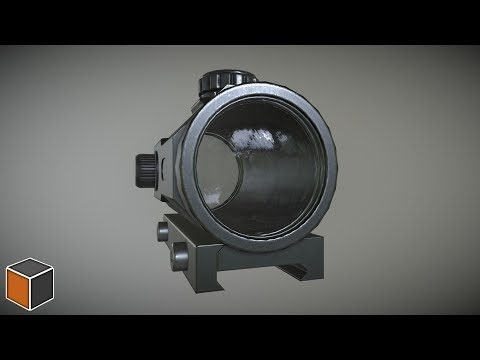Blender | Substance Painter - Red Dot Sight [Timelapse]