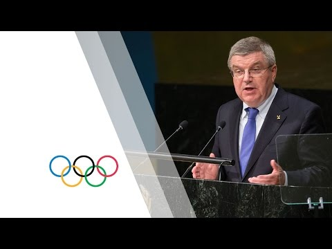 IOC President Speech at the United Nations' Sustainable Development Goals Summit