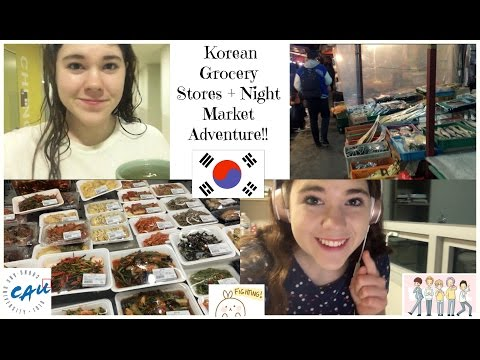 Day in the Life in Korea: Korean Grocery Stores + Night Markets!!