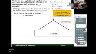 (3) Sine Function f๐r Calculating Sling Tension, Metric