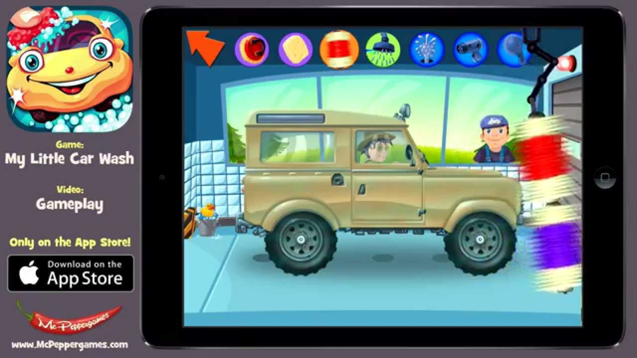 my little car wash high quality apple and android car washing game for kids