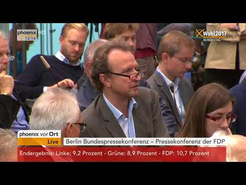 Pressekonferenz der FDP zum Ausgang der Bundestagswahl am 25.09.17