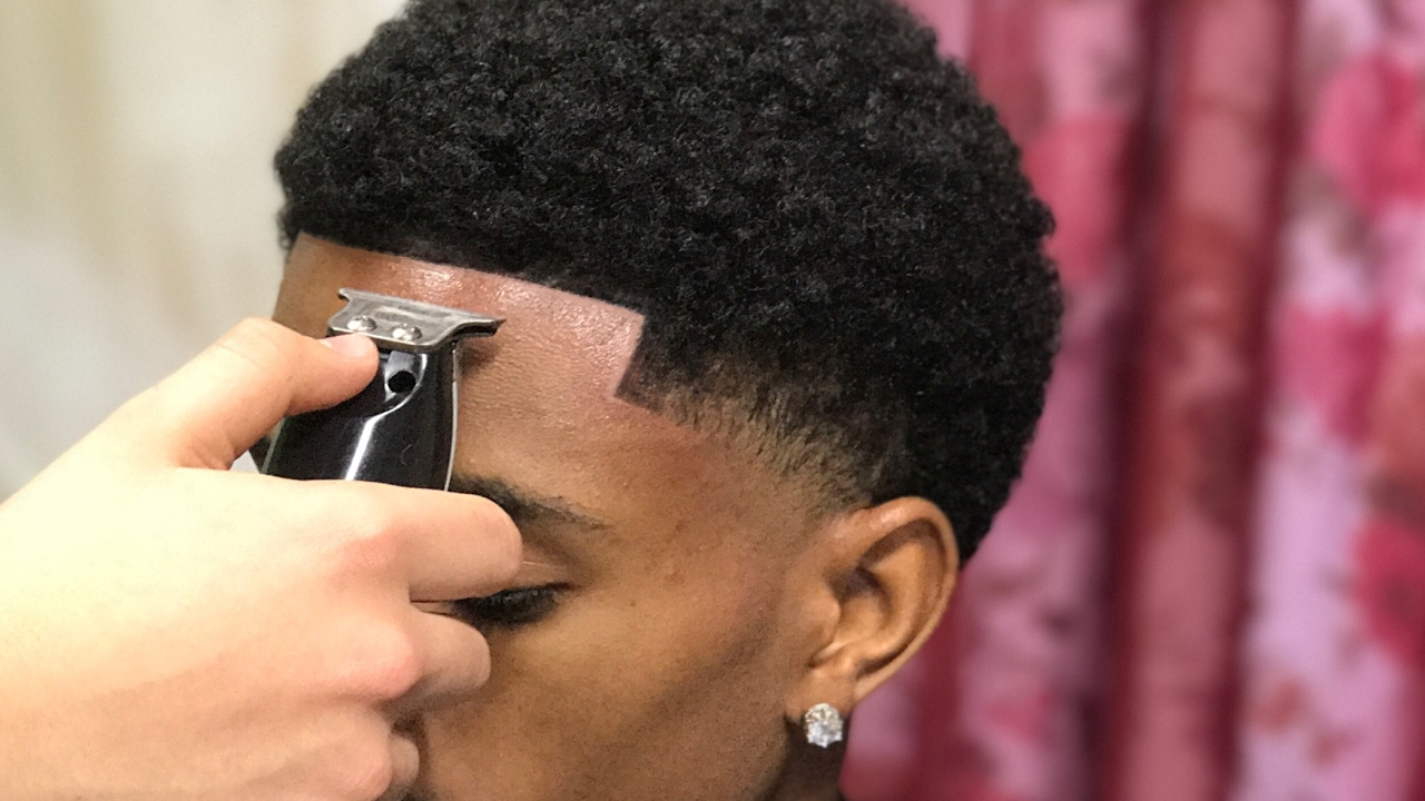 haircut tutorial afro taper blowout