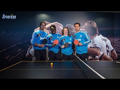 Real Madrid stars take part in table tennis showdown