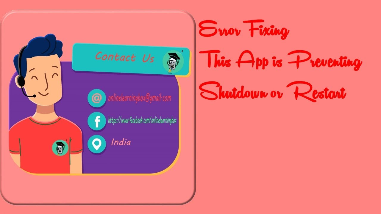 How to solved This App is Preventing Shutdown or Restart tutorial hindi