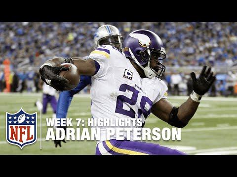 Adrian Peterson Highlights (Week 7) | Vikings vs. Lions | NFL