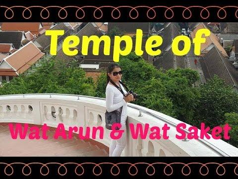Bangkok, Thailand - Temple of Wat Arun & Wat Saket