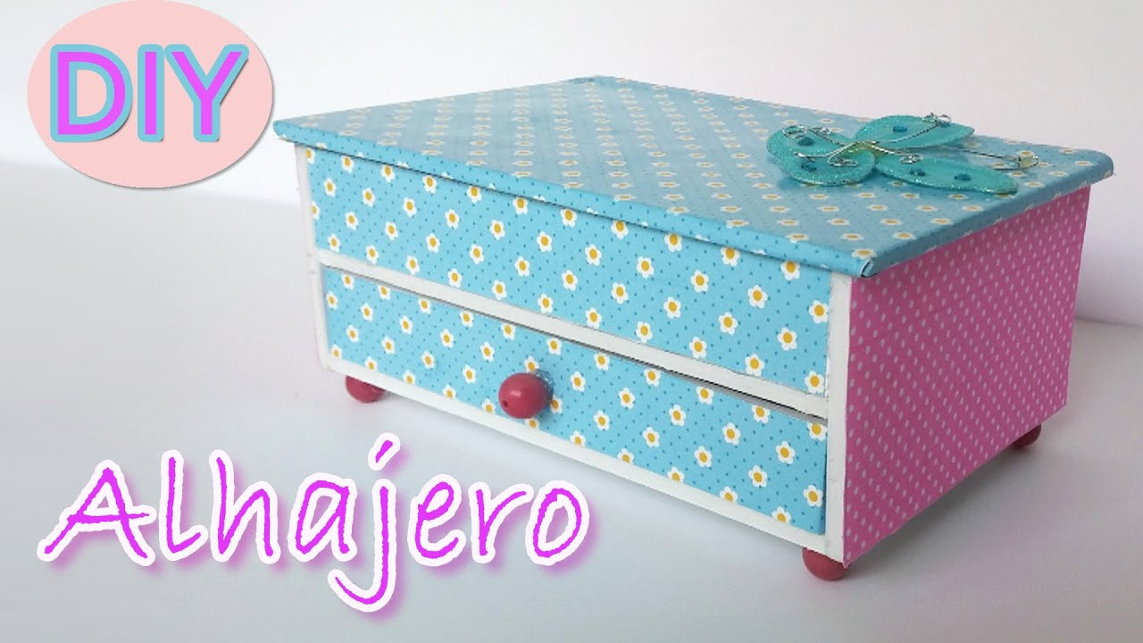 Manualidades alhajero joyero manualidades para todos for How to make a ring box out of wood