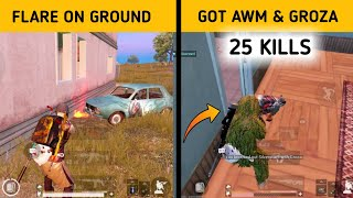 I lost my flare😭but got awm and groza from enemy 😎 | 25 kills solo vs squad | Hindi Gameplay