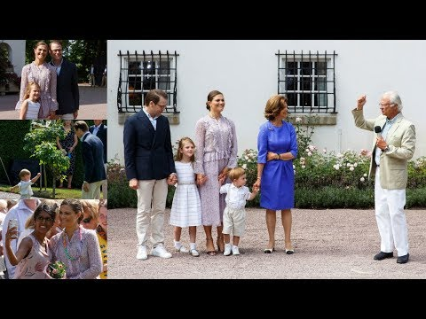 All the best clips from Crown Princess Victoria's 41st birthday in Solliden