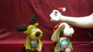 Dandee Christmas Animated Spinning Dog And Reindeer