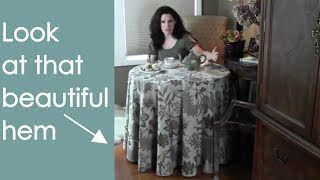 Round Tablecloth: Make and Sew (how to) - Renee Romeo
