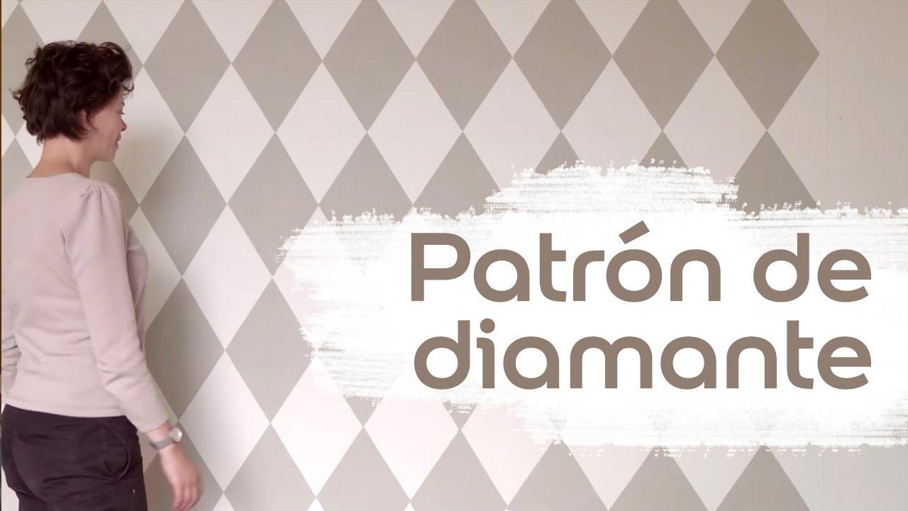Vídeo Tutorial: Cómo Pintar un Patrón de Diamante - Bruguer - YouTube