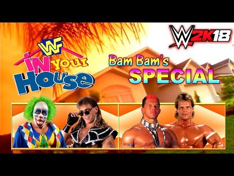 "WWE 2K18 GAMEPLAY: [IN YOUR HOUSE] Doink VS. Shawn Michaels / Tatanka VS. ""The Narcissist"" Lex Luger thumbnail"