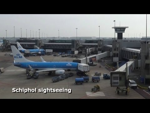 Sightseeing at Schiphol Airport Amsterdam.