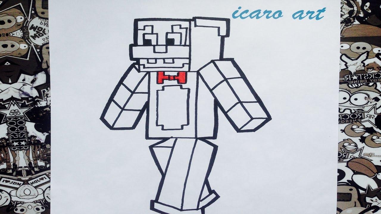 Como dibujar a bonnie minecraft | how to draw bonnie minecraft ...