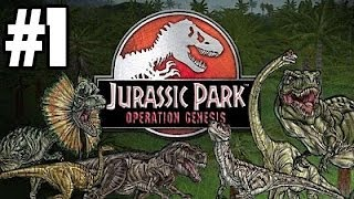 Jurassic Park: Operation Genesis - Part 1 - Welcome to Jurassic Park! - (Live Commentary)
