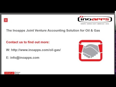 The Inoapps Joint Venture Accounting Solution for Oil & Gas in Oracle Cloud