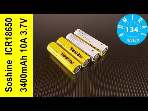 Soshine ICR18650 3400mAh 10А обзор аккумуляторов