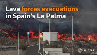 Red-hot lava forces evacuations in Spain's La Palma