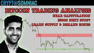 Bitcoin Trading Analysis📊 | Near Capitulation Next Stop $3k? 📉 | Supply & Demand Zone Lesson