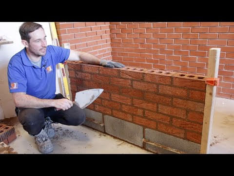 How To Lay Bricks To a Line For Beginners