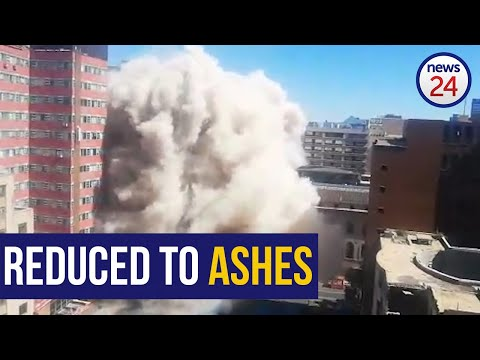 WATCH | Joburg's fire-trap Bank of Lisbon building comes down