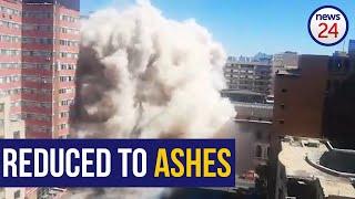 WATCH   Joburg's fire-trap Bank of Lisbon building comes down
