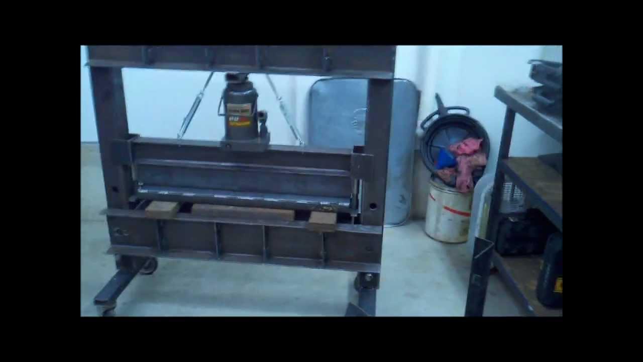 how to build a shop press