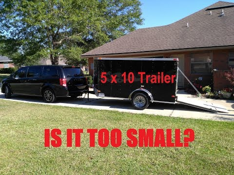 Enclosed Trailer Lawn Care Setup 5x10