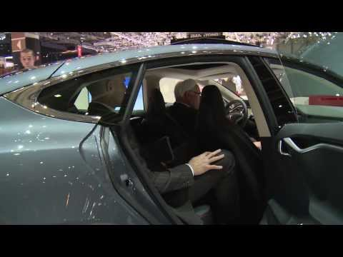 Tesla Motors Model S at Geneva Auto Show 2014 | AutoMotoTV