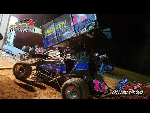 #11B Tyler Horn - USCS Outlaw Sprint Cars - 3-23-19 North Alabama Speedway - In Car Camera