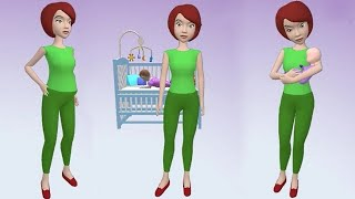 Pregnancy Idle 3D Simulator Gameplay - All Levels