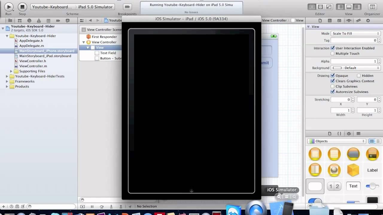 Drawing Line Xcode : Xcode iphone hide keyboard tutorial youtube