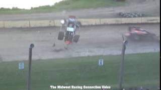 Chase Viebrock flip at Cedar Lake Speedway