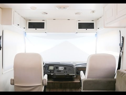 Replacing the Curtains in the Front of RV with Roller Shades