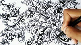 Menggambar Bunga Ornamen