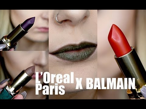 Loreal Paris X Balmain Lipstick Lip Swatches And Review Youtube