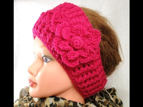 Diy Crochet Headband And Crochet Flower Tutorials Youtube