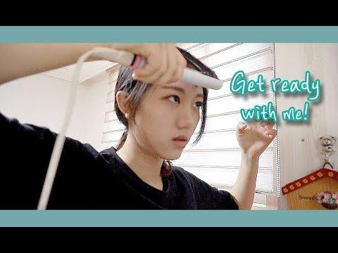 GRWM🏫 같이 학교 갈 준비해요!! 프로지각러의 영화동아리 촬영 가는 겟레디윗미! 고데기하는법/고등학생 [미트]