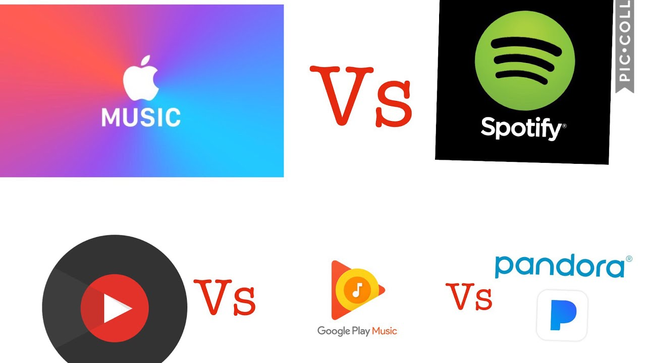 Apple Music vs Spotify vs Pandora radio vs Google Play Music vs YouTube  music