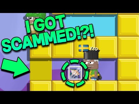 Growtopia - DROP GAME SCAMMER FAIL!😱😱